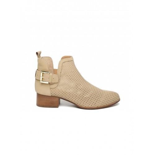 Carlton London Beige Lazer Cut Boots