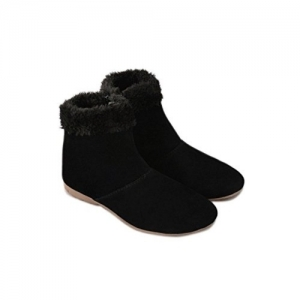 Thari Choice Black Synthetic High Ankle Boots