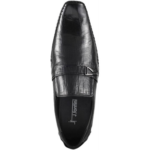 258ff96d002 Buy Mochi J.Fontini Black Leather Slip On Formal Shoes online ...