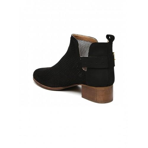 Carlton London Black Lazer Cut Boots