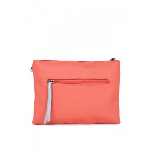 Caprese Coral Pink Solid Sling Bag