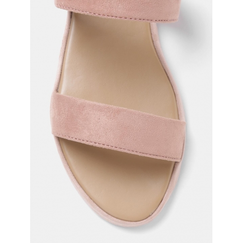 DressBerry  Dusty Pink Solid Flats Sandals