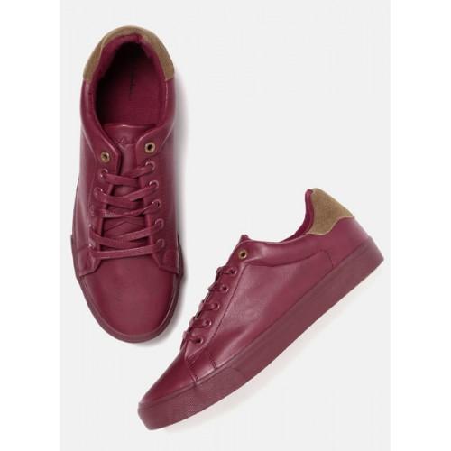 Mast & Harbour Maroon Sneakers