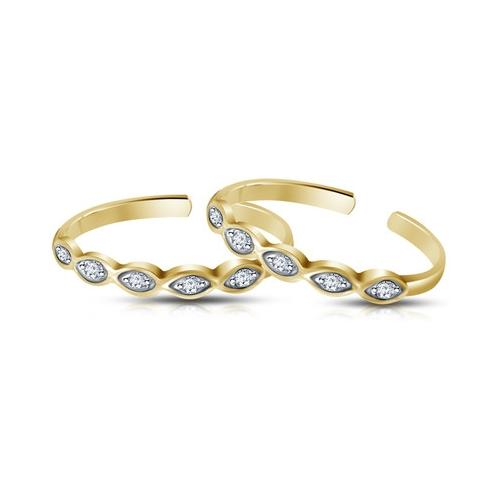 Kirati Sterling Silver 14K Yellow Gold Plated Toe Ring