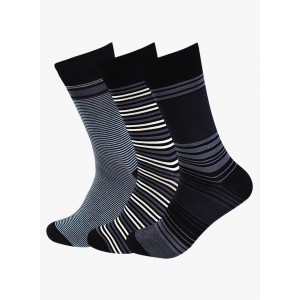 Supersox Pack Of 3 Multicoloured Cotton Striped Socks