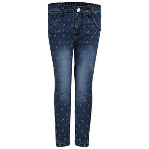 AJ Dezines Navy Blue Printed Kids Jeans for Boys