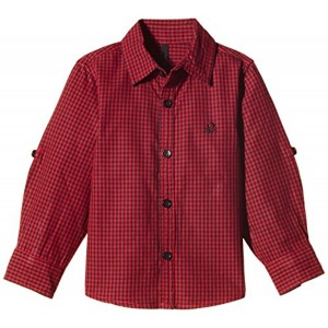 United Colors of Benetton Maroon Checked Boys' Shirt