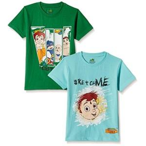 Chhota Bheem Printed Boys' T-Shirt (Pack of 2)