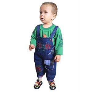 ahhaaaa's Denim Dungaree with T shirt for Kids (1-5 Years)