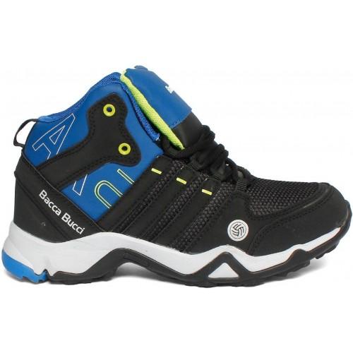 Bacca Bucci Black Polyurethane Basketball Shoes