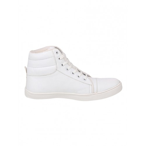 Floxtar White Synthetic Leather Sneakers