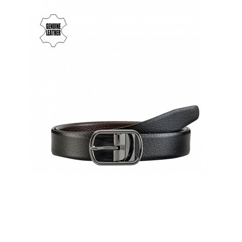 Teakwood Leathers Men Black & Brown Reversible Genuine Leather Belt