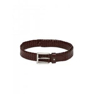 Louis Philippe Men Brown Woven Design Belt