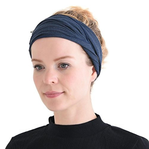 ... Casualbox mens Elastic Bandana Headband Japanese Long Hair Dreads Head  wrap Mix Navy ... 22629728aa9