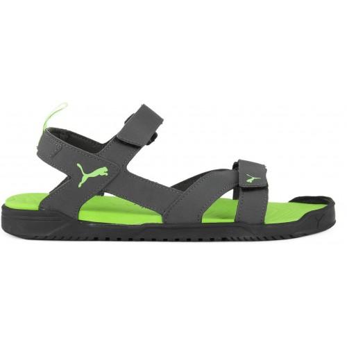 Buy Puma Men Asphalt-Puma Black-Green Gecko Sandals online  cf1829d88