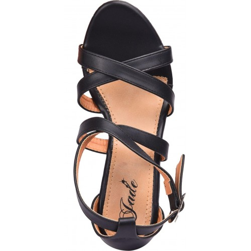 Jade Women Black Synthetic Wedges Sandals