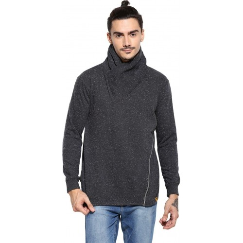 Campus Sutra Full Sleeve Solid Men Sweatshirt