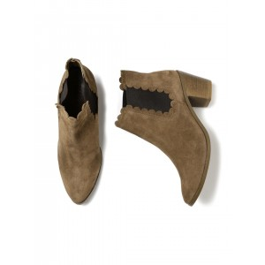 Carlton London Women Brown Solid Heeled Boots