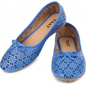 Taat Blue Laser Cut Nappa Leather Bellies
