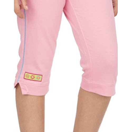 OCEAN RACE -Girls Stylish Pink Cotton Capri-3/4 Th pant