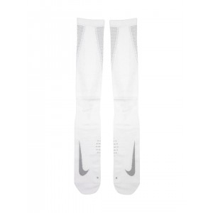 Nike Unisex White Patterned Elite Compression Over-The-Calf Running Socks