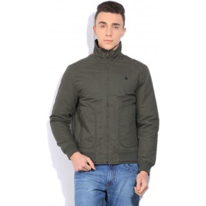 Lee Navy Gray Solid Poly Cotton Sweat Jacket