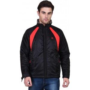 Forest Club Full Sleeve Black Solid Nylon Jacket