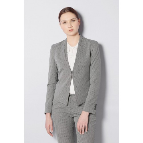 25ab31028b8 Buy Van Heusen Self Design Tuxedo Style Formal Women Blazer ...