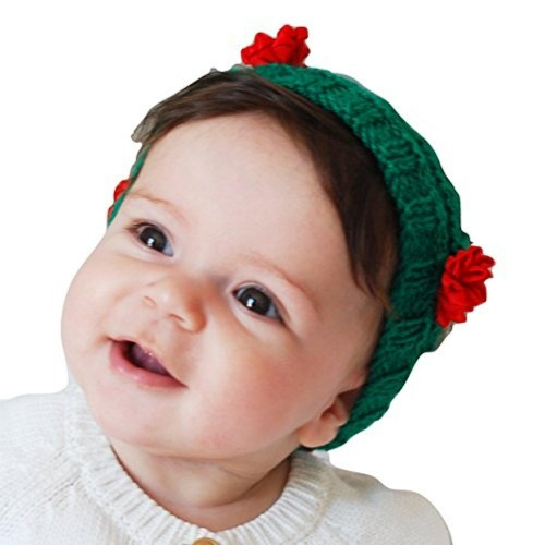 ... Queen Bee Boutique Baby Girls Red Flower Headband Earwarmer Baby Girl  Handknitted Head Band Ear Warmer ... c4930394039