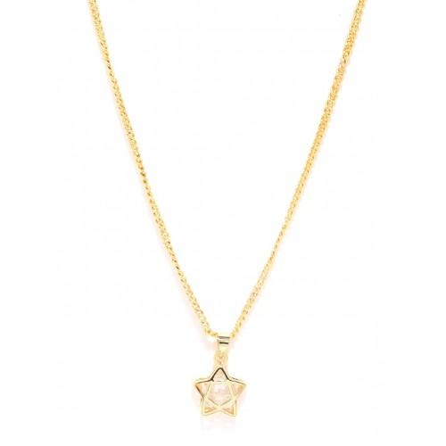 Buy sukkhi gold plated star shaped cz stone studded pendant with sukkhi gold plated star shaped cz stone studded pendant with chain mozeypictures Choice Image