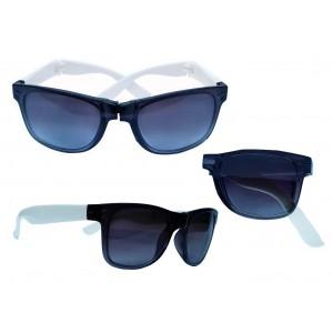 Derry Folding Black White Wayfarer Sunglasses