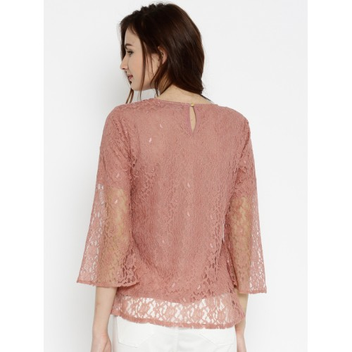 Sassafras Pink Self Pattern Blouse