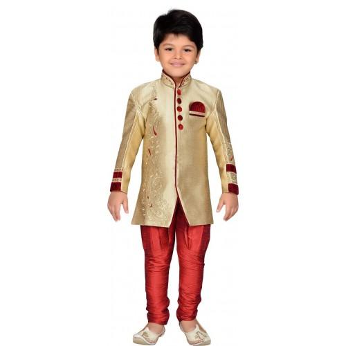 f733d668b Buy AJ Dezines Boys Festive   Party Sherwani and Churidar Set ...