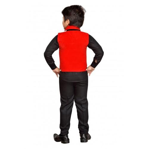 AJ Dezines Boys Festive & Party Shirt, Waistcoat and Pant Set