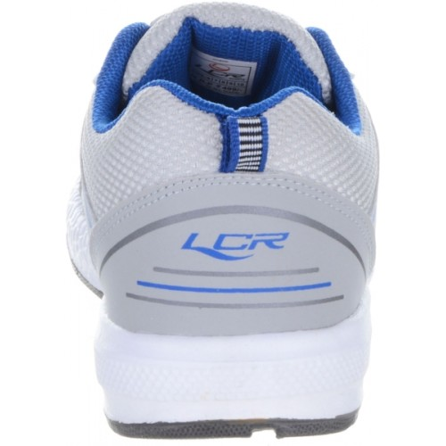 Lancer Grey Mesh Lace Up Running Shoes