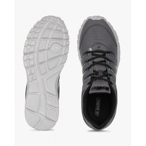 Lotto Adriano Gray Mesh Lace Up Running Shoes