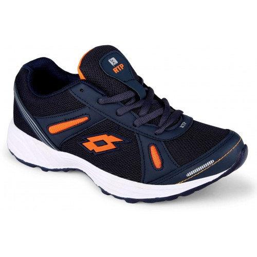 Rich N Topp Striker Navy Blue Mesh & Synthetic Running Shoes