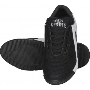 Johnnie Boy Black Synthetic Lace Up Sports Shoes