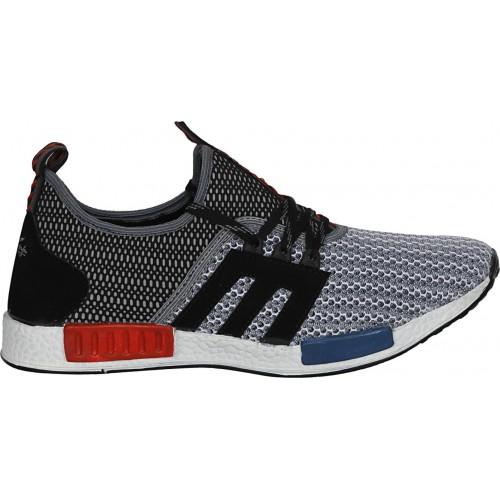 Gray Synthetic Lace Up Sports Shoes