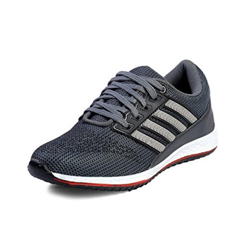 Bonexy Grey Synthetic Lace Up Sports Shoes