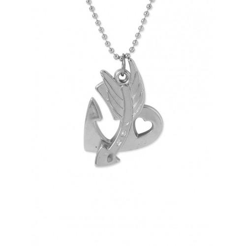 voylla silver metal pendant