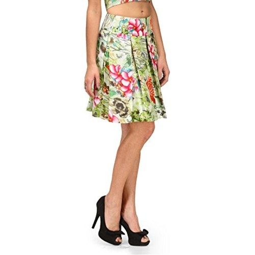 a68d604b30 ... XOXO Blue Floral Short Pleated Skirt / XOXO Green Floral Short Pleated  Skirt ...
