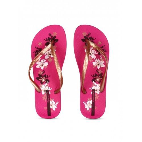 4e7b1f45c Buy iPanema Women Copper-Toned   Pink Printed Flip-Flops online ...