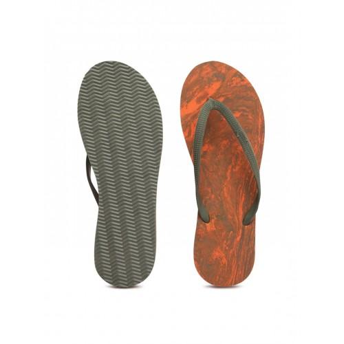 Buy Puma Women Olive Green   Orange Flipflops online  4af72435e