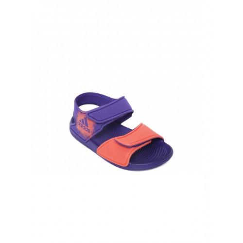 Buy Adidas Kids Coral Orange   Purple ALTASWIM C Sports Sandals ... 2c5600b6c77