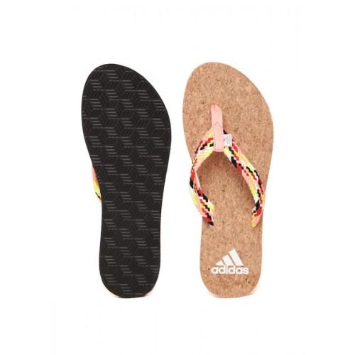 Adidas Peach-Coloured  Brown Beach  Flip-Flops