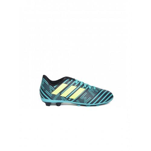 5877e822f894 ... Adidas Boys Navy   Teal Blue NEMEZIZ 17.4 FXG J Printed Football Shoes  ...