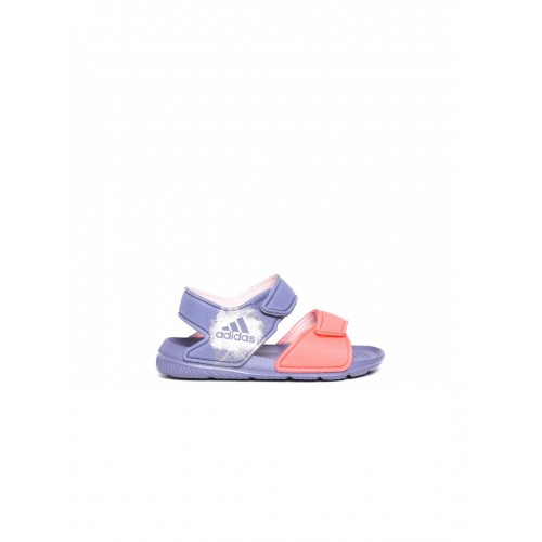 new style ac46b f5c54 ... Adidas Kids Coral Orange  Blue Altaswim C Colourblocked Sports Sandals  ...