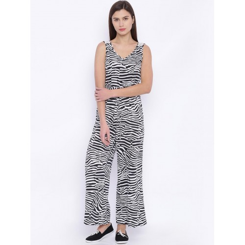 89da6865df Buy Indi Chic Black   White Animal Print Jumpsuit online
