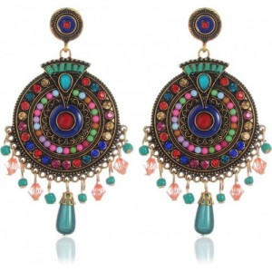 YouBella Multi-Color Gold Plated Bohemian Stylish Party Wear Earrings